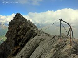 die olle nebelumwaberte Gratkante beim wunderschönen Biberkopf 2.599m Bergtour