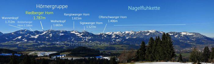 Riedberger Horn, Allgäuer Alpen