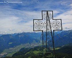 welch hübsches Gipfelkreuz auf der Mondspitze (Tag 1 im Brandner Tal)
