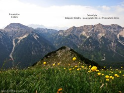 Bergtour Geierköpfe Westgipfel 2.143m