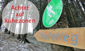 Tourenplanung im Winter – Achte auf Ruhezonen