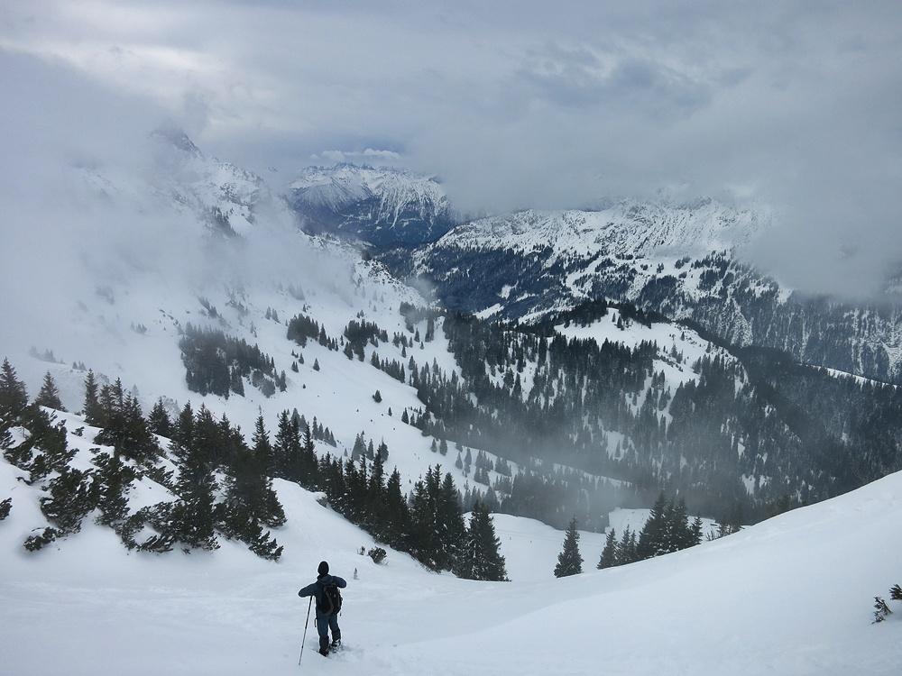 Blick vom Sefensattel ins Skigebiet