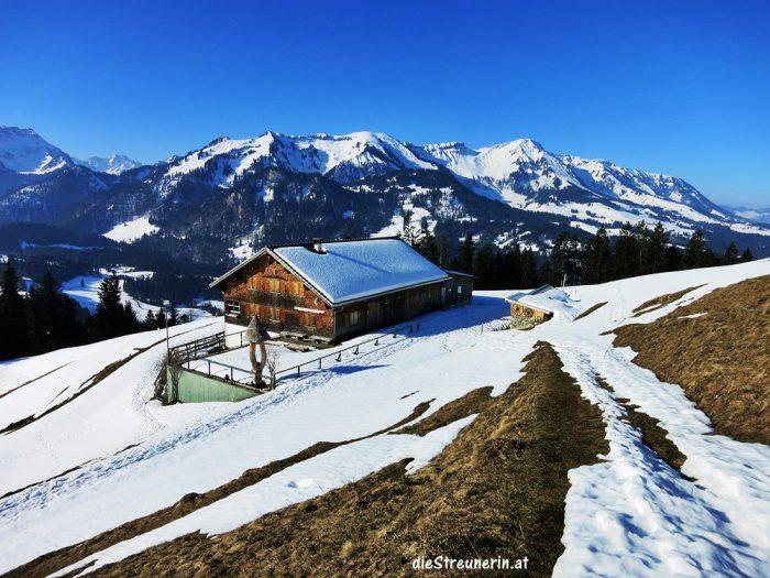 Winterwanderung, Renkknie, Sibratsgfäll, Schneeschuhtour, Vorarlberg