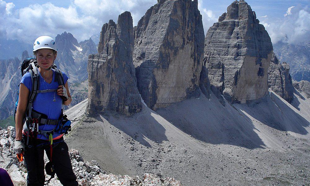 am Gipfel: Drei Zinnen & ich (so ein Bild braucht man ;-) )