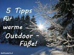 Warme Füße im Winter – 5 Tipps