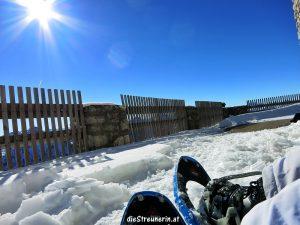 Schneeschuhwandern, Technik