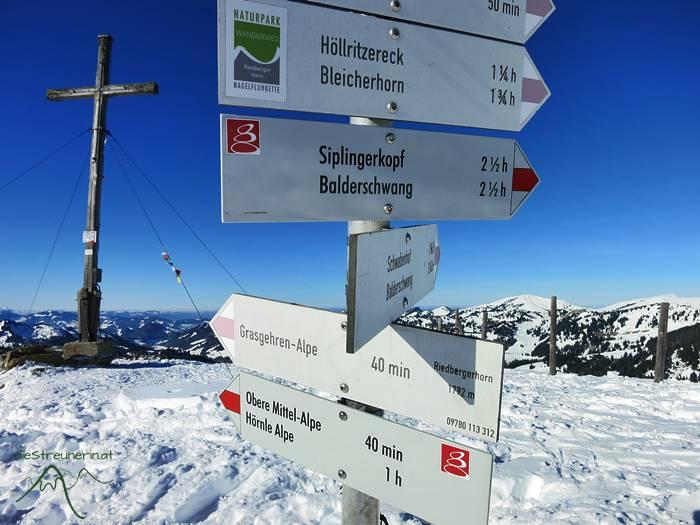 Riedberger Horn, Winterwanderung, Skitour, Schneeschuhtour