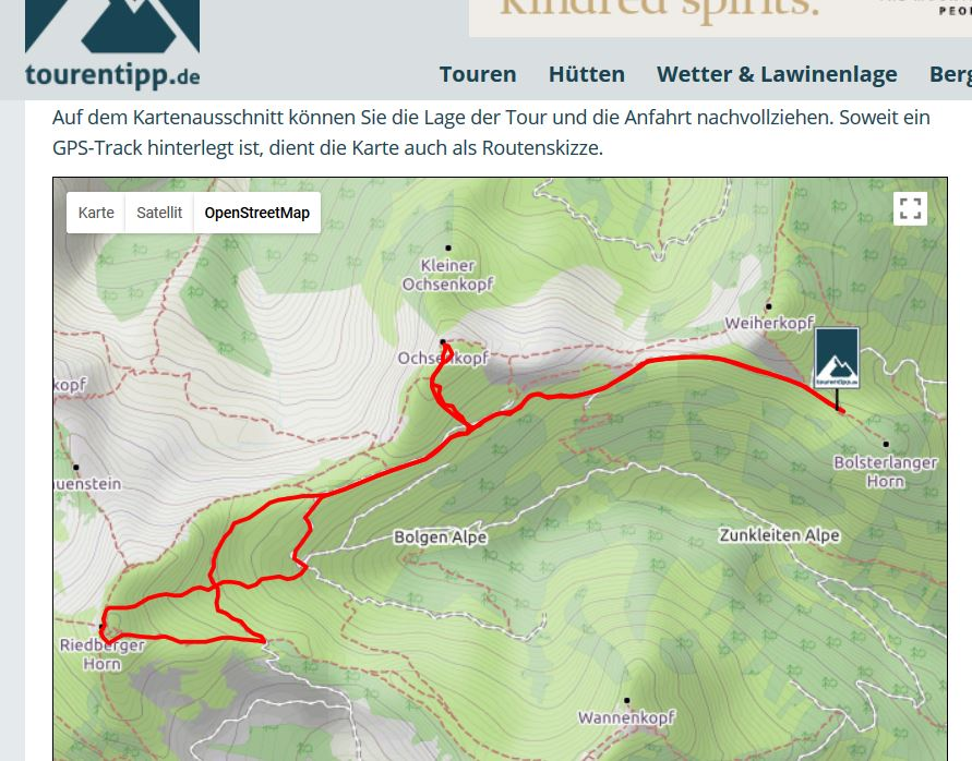 Skitour Riedberger Horn - Ochsenkopf