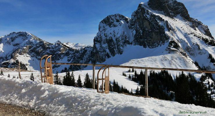 Winterwanderung zum Breitenberg 1.838m im Achtal