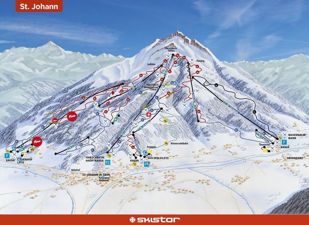 Kitzbüheler Alpen, St. Johann in Tirol, Skifahren, Winter