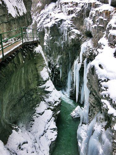 Breitachklamm, Tiefenbach, Winter, Allgäu,, Rundwanderung