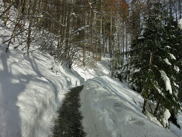 Breitachklamm, Tiefenbach, Winter, Allgäu, Rundwanderung