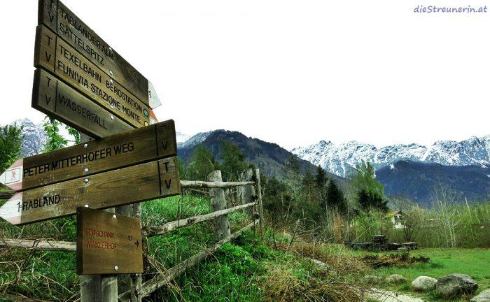 Partschinser Wasserfall, Meraner Land, Südtirol, Wanderung