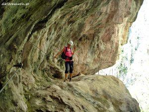 Klettersteig Schlucht Burrone Giovanelli Trentino