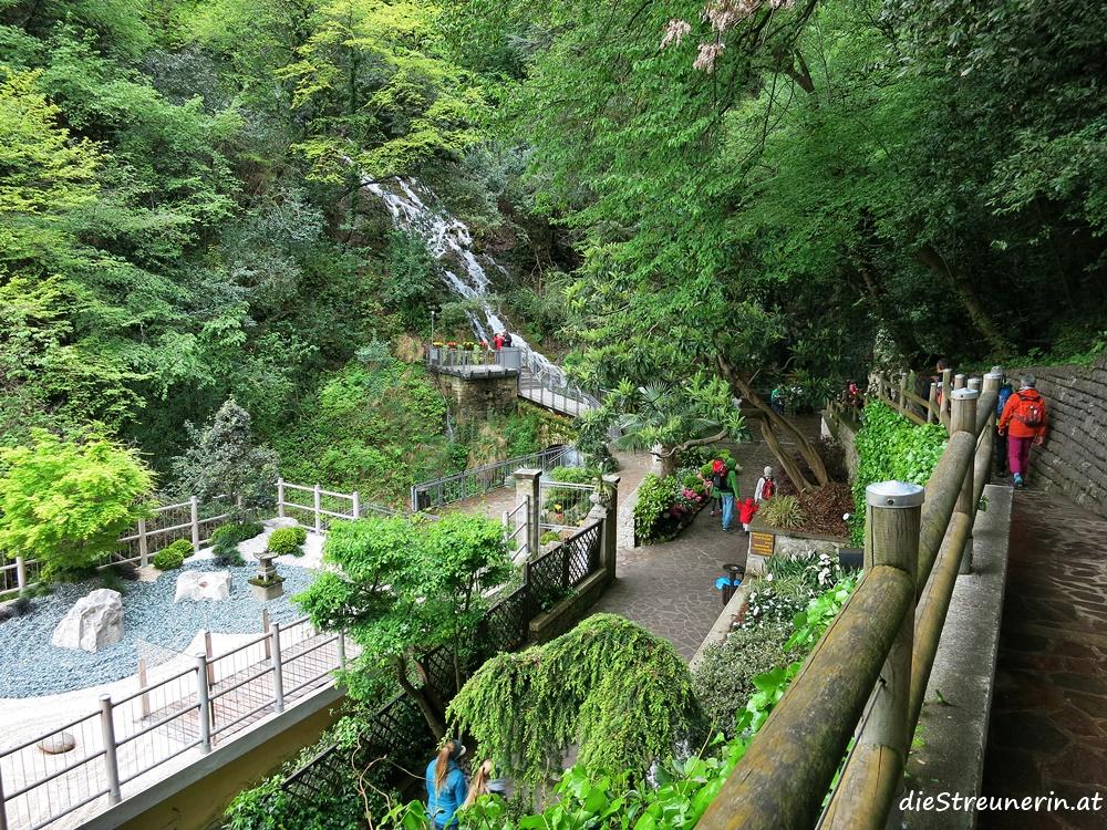 Varone Wasserfall,, Gardasee, Trentino, Lago di Tenno, Italien, Wanderung