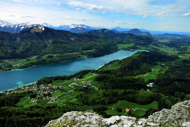 Vom Schober der 7-Seen-Blick im Salzkammergut