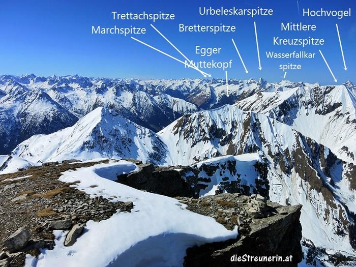 Skitour Namloser Wetterspitze, Lechtaler Alpen,